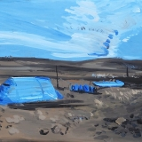 Blue Tent, Oil on canvas, 41x51cm- 2015-min