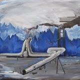 Mountain Locked, Oil on canvas, 80x90cm- 2015-min