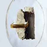 Mirror, oil on coated paper, 32x24cm- 2014