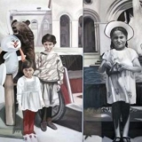 At the Square, Oil on canvas (diptych), 105x166cm - 2008