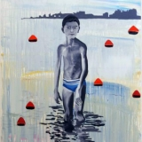 Boy in Lake, Acrylic and oil on canvas, 157x107cm - 2008