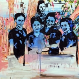Five Smilling Women, Acrylic and oil on canvas, 106x116cm - 2008