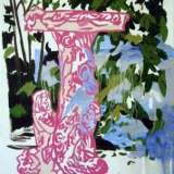 Birdbath, Oil on canvas 76x61cm - 2008