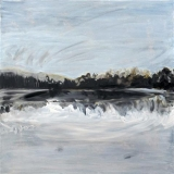 Lake, Oil on canvas, 76x76cm - 2011