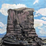 Monolithic Igneous Intrusion, Oil on canvas, 95x95cm - 2011