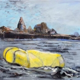 Yellow Dingy, Oil on canvas, 91x105cm - 2011