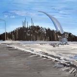 A Winter's Landscape, oil on canvas, 85x90cm - 2013