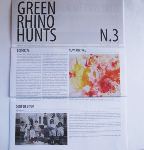 Green Rhino Hunts, A publication by The Running Horse Contemporary Art Space, Coup de Ceur. September-December, 2011, Issue no.3